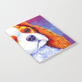 Colorful Cavalier King Charles Spaniel Notebook