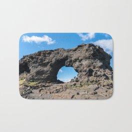 Iceland: Lava window at Dimmuborgir Bath Mat