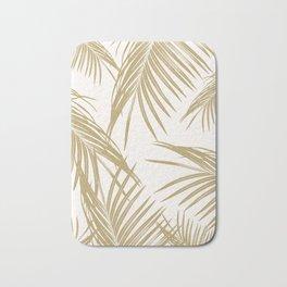 Gold Palm Leaves Dream #1 #tropical #decor #art #society6 Bath Mat