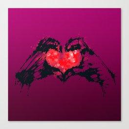 Splaaash Series - Heart You Ink Canvas Print