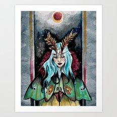 Moth Coat Art Print