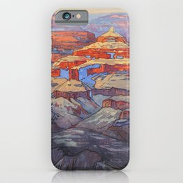 Grand Canyon Hiroshi Yoshida Vintage Japanese Woodblock Print iPhone Case