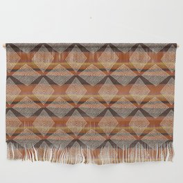 African Mud Cloth Inspired | Ombre Diamonds Wall Hanging