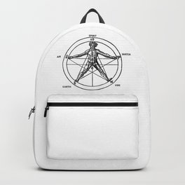 Three books of occult philosophy - man inscribed in a pentagram Backpack