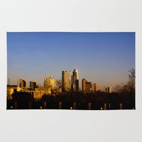 austin Area & Throw Rugs featuring Austin Skyline by Julia Goss Photography