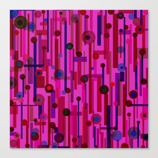 Plink Cherry (see also Plink, and Plink Purple) Canvas Print