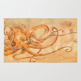 Octopus Drinking Tea Rug