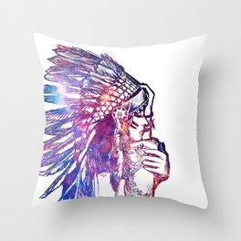 Space Indian Throw Pillow