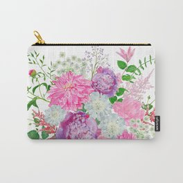 Pink bouquet of garden flowers Carry-All Pouch