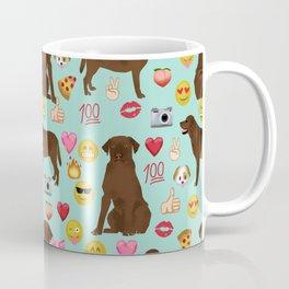 Chocolate lab emoji labrador retrievers dog breed Coffee Mug