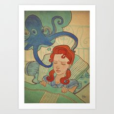 Aquatic nightmare Art Print