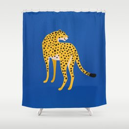 The Stare 2: Golden Cheetah Edition Shower Curtain