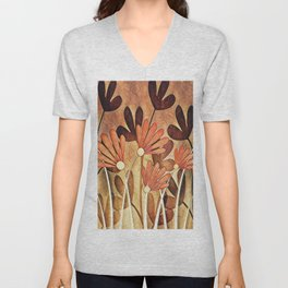 Shades of Brown Unisex V-Neck