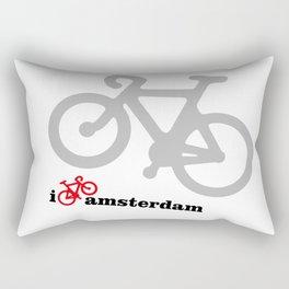 I Love Amsterdam - Red Bike Rectangular Pillow