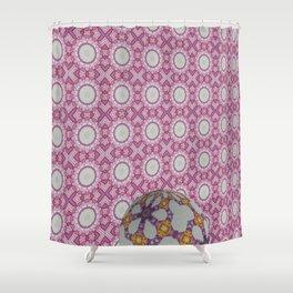 Hawaiian Diamond Header WallBall5 Shower Curtain