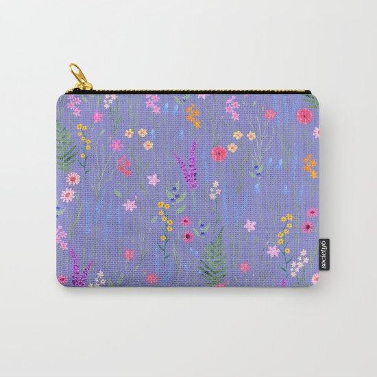 blue meadows colorful floral pattern by martaolgaklara