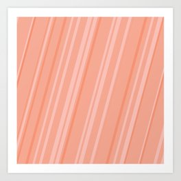 Melon Stripes Art Print