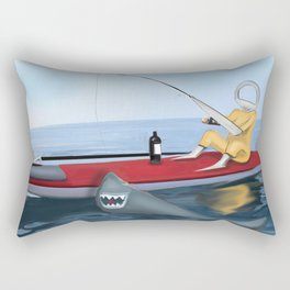 Corky's fishing Rectangular Pillow