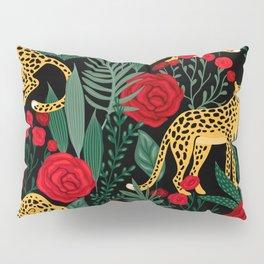 Leopards & Roses Pattern Pillow Sham