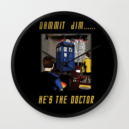 Dammit Jim Wall Clock