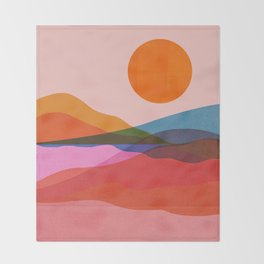 Abstraction_OCEAN_Beach_Minimalism_001 Throw Blanket