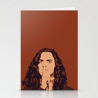 eddie vedder Stationery Cards featuring Eddie Vedder by Renan Lacerda