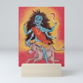 Beautiful Hindu goddess rendering Shree Kalaratri Devi. Navaratri. Day 7. Pastel drawing. Mini Art Print