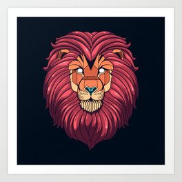The eyes of a Lion Art Print