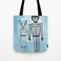 Fox and Wolf Tote Bag