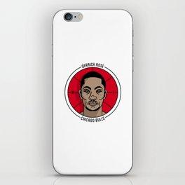Derrick Rose Badge Illustration iPhone Skin