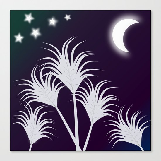 Palms at Night Canvas Print