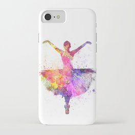 Woman ballerina ballet dancer dancing iPhone Case