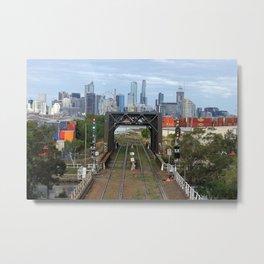 Melbourne cityscape Metal Print