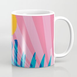 Yellow sun in the pink sky of the French Riviera Coffee Mug