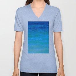 Landscape | Seascape | Water Colours Abstract | Nadia Bonello Unisex V-Neck