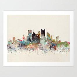 pittsburgh city skyline Art Print
