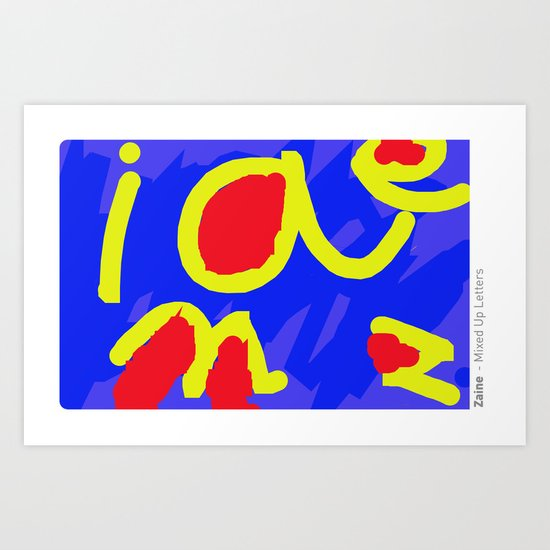 mixed up letters Art Print