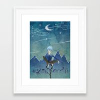 jack frost Framed Art Prints featuring Jack Frost by Serena Rocca