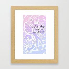 Lazy Princess Framed Art Print
