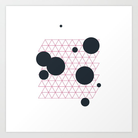 #224 Deep space cartography – Geometry Daily Art Print