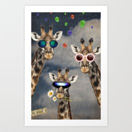 Animal Collection -- Let's Take  A Selfie Art Print
