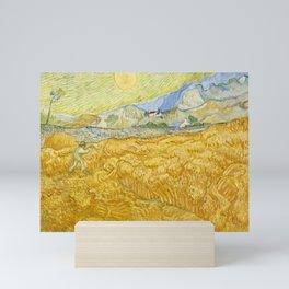 "Vincent van Gogh ""Wheat Field behind Saint Paul Hospital with a Reaper"" Mini Art Print"