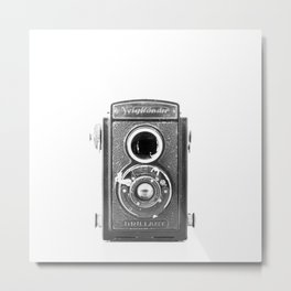 Vintage Camera: Voigtländer Brillant Square Metal Print