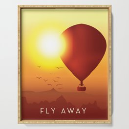 Fly Away on a Balloon Serving Tray