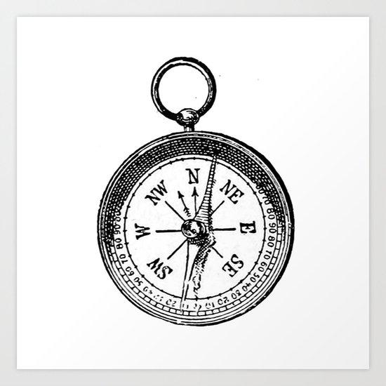 Compass 2 Art Print