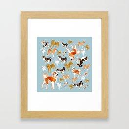 Japanese Dog Breeds Framed Art Print