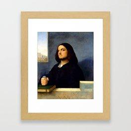 "Giorgione ""Portrait of a Venetian Gentleman"" Framed Art Print"