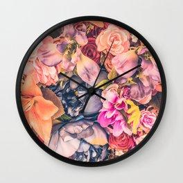 Vintage Roses I Wall Clock