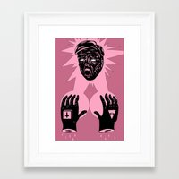 horror Framed Art Prints featuring Horror by Olivier Carignan