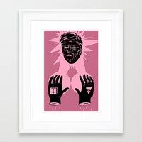horror Framed Art Prints featuring Horror by Olivier Carignan